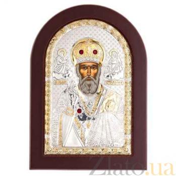Икона Николай Чудотворец серебро с позолотой AQA--MA/E1108DX