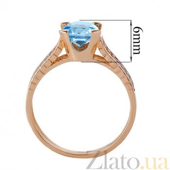 Кольцо из красного золота Era с голубым топазом и фианитами TRF--1121583н