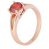 Позолоченное серебряное кольцо с красным цирконием Маэра
