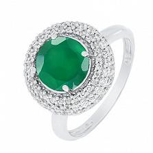 Золотое кольцо с хризопразом Лоренсия