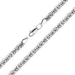 Серебряный браслет в византийском плетении 000140659