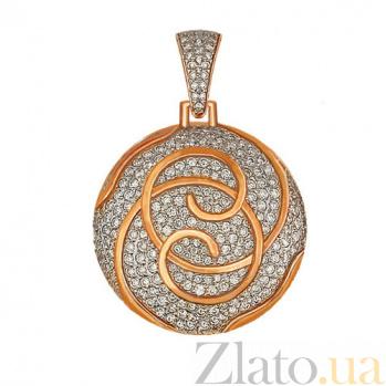 Кулон из красного золота с фианитами Доминика VLT--ТТ3336-2