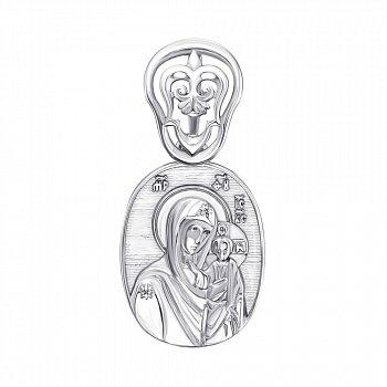 Серебряная ладанка Богоматерь с Иисусом Христом 000138798