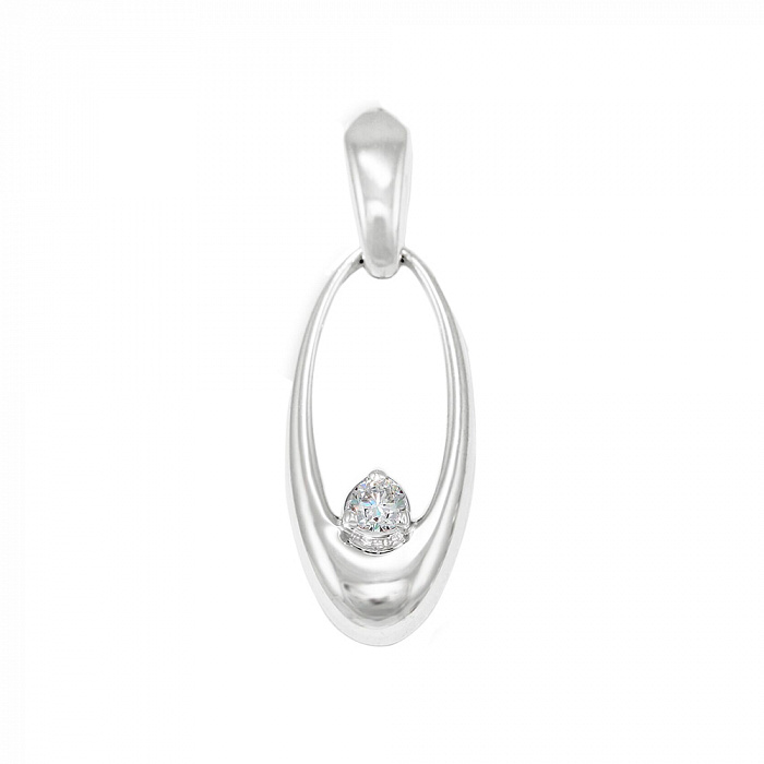 Кулон из белого золота Кларина с бриллиантом VLA--33689