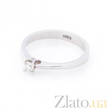 Кольцо из белого золота Лючия с бриллиантом 000096457