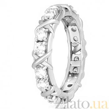 Серебряное кольцо Мауриса с фианитами 000030917