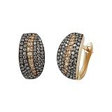 Золотые серьги с бриллиантами Призрак ночи