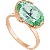 Золотое кольцо Офелия с синтезированным аметистом