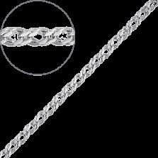 Золотая цепь Монтгомери в плетении ромб, 2,5мм