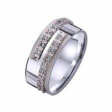 Золотое обручальное кольцо с фианитами Магнетическое притяжение