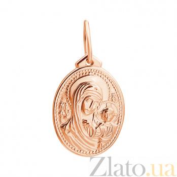 Ладанка  из золота Божья Матерь Казанская EDM--П0144
