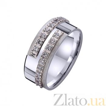 Золотое обручальное кольцо с фианитами Магнетическое притяжение TRF--4421345