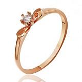 Кольцо из красного золота Первоцвет