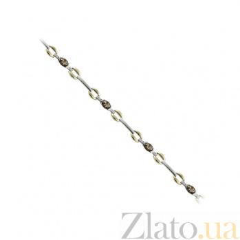 Золотой браслет с бриллиантами и раухтопазами Домани 1Б032-0011