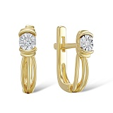 Серьги из золота с бриллиантами Лаки