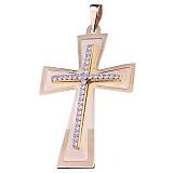 Крест из желтого золота Антара с фианитами