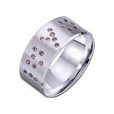 Золотое обручальное кольцо I love you с фианитами