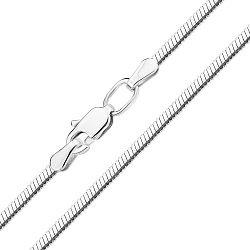 Серебряный браслет в плетении плоский снейк 2мм, 000140468