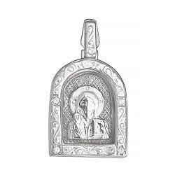 Серебряная ладанка с фианитами Покровитель 000028538