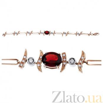 Золотой браслет с цирконием и гранатом Миранда AUR--35026_03