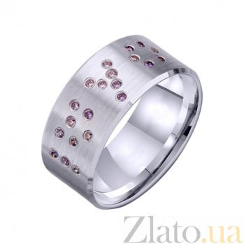 Золотое обручальное кольцо I love you с фианитами TRF--422261