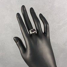 Серебряное кольцо Грейс с фактурной шинкой, авантюрином и золотой накладкой