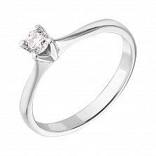 Кольцо в белом золоте Победа любви с бриллиантом 0,22ct