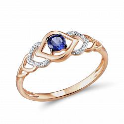 Кольцо из золота с сапфиром и бриллиантами Стефани