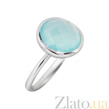 Серебряное кольцо с халцедоном Голубая бездна 000032358