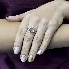 Серебряное кольцо Оранта с сапфиром и фианитами