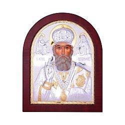 Икона Николай Чудотворец с серебрением и позолотой 000131708