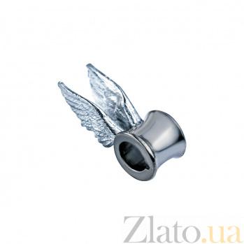 Серебряная бусина Крылья ангела 000027035