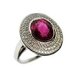 Золотое кольцо с турмалином и бриллиантами Селинда