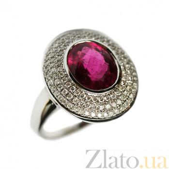 Золотое кольцо с турмалином и бриллиантами Селинда 000026941