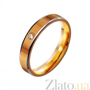 Золотое обручальное кольцо Forever in love с фианитом TRF--412996