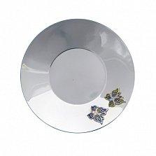 Серебряное блюдце Бабочки с эмалью