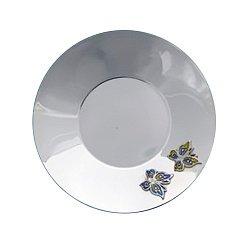 Серебряное блюдце Бабочки с эмалью 000043542