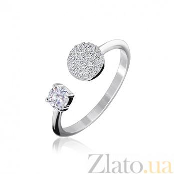 Серебряное кольцо с фианитами Тина 000028123