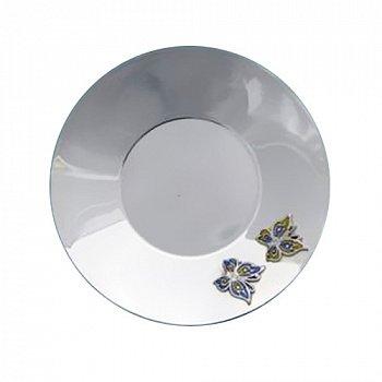 Срібне блюдце Метелики з емаллю 000043542