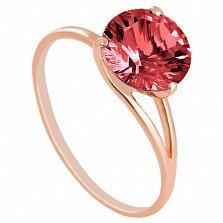 Золотое кольцо Селесте с гранатом