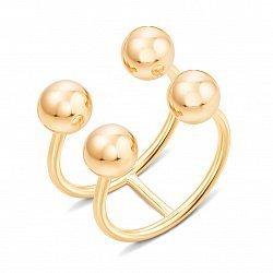 Двойное кольцо из желтого золота с разомкнутой шинкой 000134938