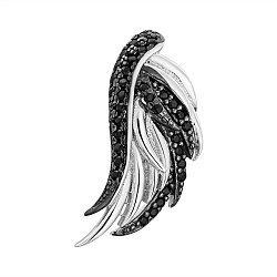 Серебряная подвеска с черными фианитами 000132655