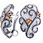 Золотые серьги с рубинами и бриллиантами Катарина KBL--С2263