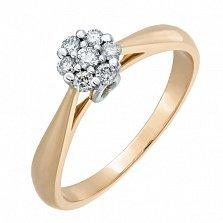 Кольцо из красного золота с бриллиантами Элизабет