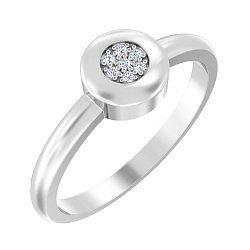 Золотое кольцо в белом цвете с фианитами 000051574