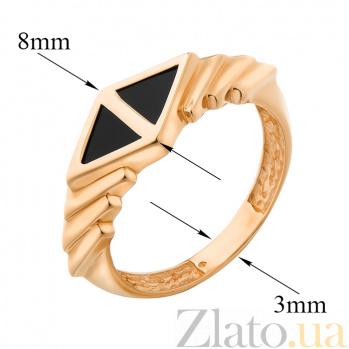 Кольцо в красном золоте Афина с агатом 000079854
