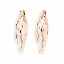 Золотые серьги-кольца Клодетта