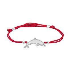 Шелковый браслет со вставкой Дельфин