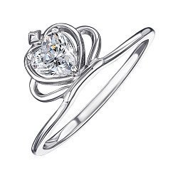 Серебряное кольцо с цирконием 000146510