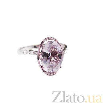 Золотое кольцо с аметистом и бриллиантами Равенна 1К034-0858